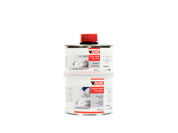 EPOXY HARS CLEAR SLOW A+B SET  0.5 KG