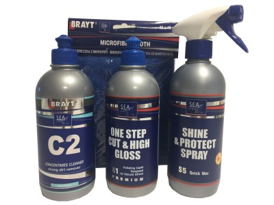 Sealine PROMO SET Cleaner & Polish & Wax & Microvezeldoek